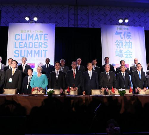 Climate Summit Leaders after signing the 2015 Declaration